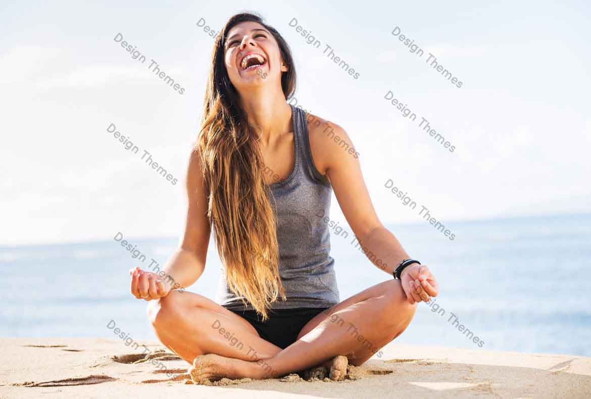 Practising yoga on the sea shore is a good method
